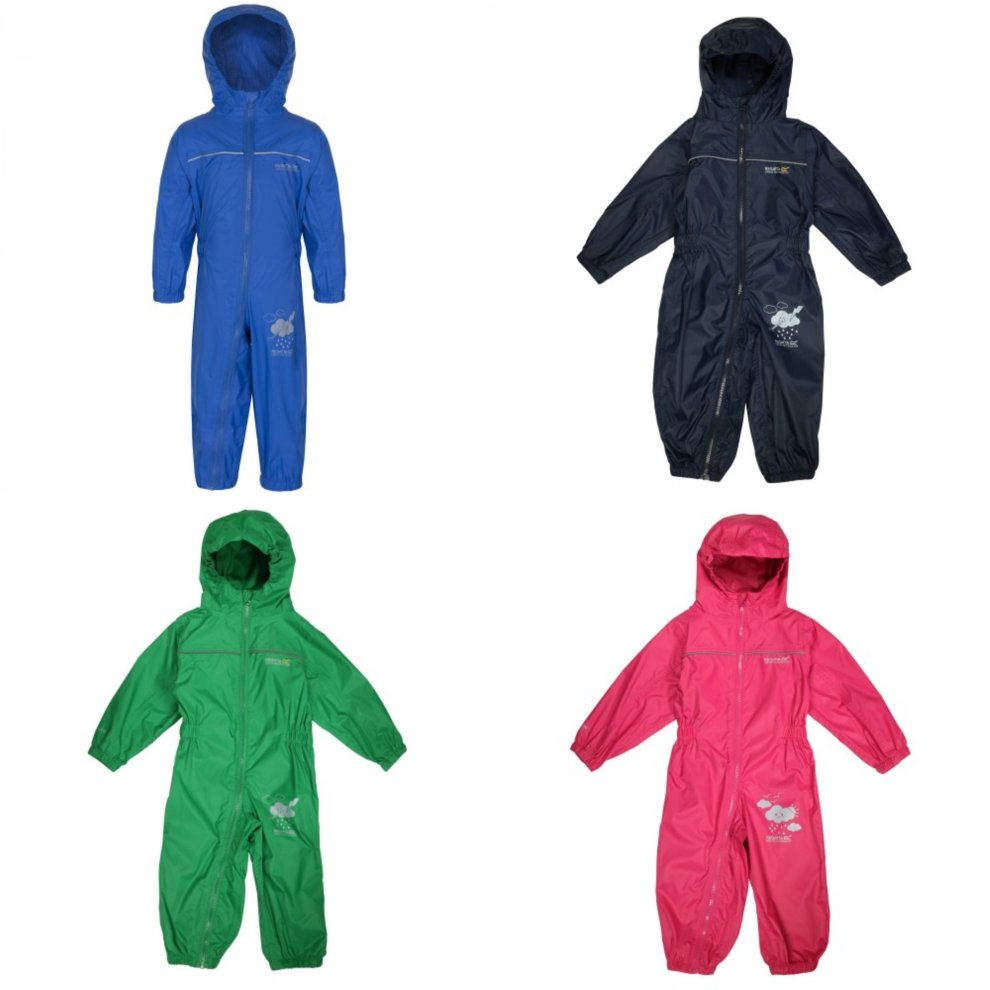 Regatta Great Outdoors Kids Charco Waterproof Rain Suit