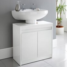 High Gloss Norsk High Gloss Under Sink Cabinet Add Some Stylish and Useful Storage To Your Bathroom