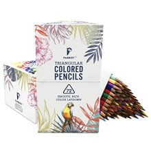 Parrot Premier 72ct Colored Pencils Soft Core Triangular-Shaped Pre-Sharpened for Artists & Adult Coloring Book