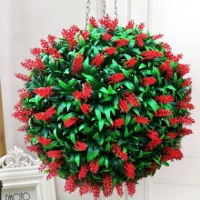 Artificial Lavender Flowers Ball Grass Hanging Flower Topiary Ball Wall Decoration