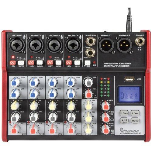 Citronic CSM-6 Mixer with USB / Bluetooth Player