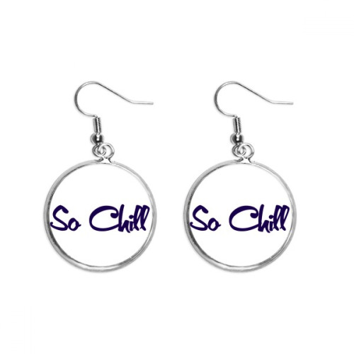 Stylish So Chill So cool Ear Dangle Silver Drop Earring Jewelry Woman