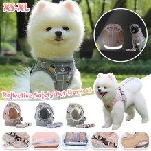 Puppy Small Dog Cat Adjustable Mesh Harness Walking Reflective Vest