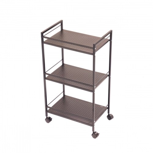 Oypla Professional Organisation Wire Mesh 3 Tier Storage Desk Office Trolley on Wheels