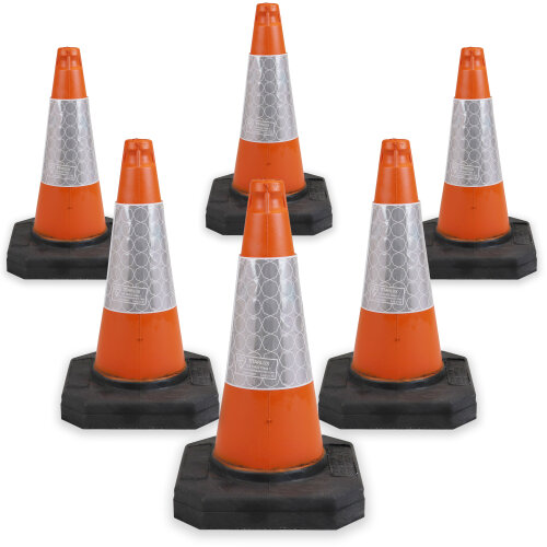 6 x 500mm Road Traffic Cones - Street Solutions UK