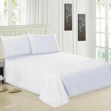 Luxury 100% Egyptian Cotton White Flat Sheets Bed Sheet