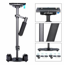 YELANGU S60T carbon fiber handheld camera steadycam stabiliser with 1/4 3/8 inch screw quick release plate for Nikon Sony Canon 5D2 MK2 DSLR up to 3kg