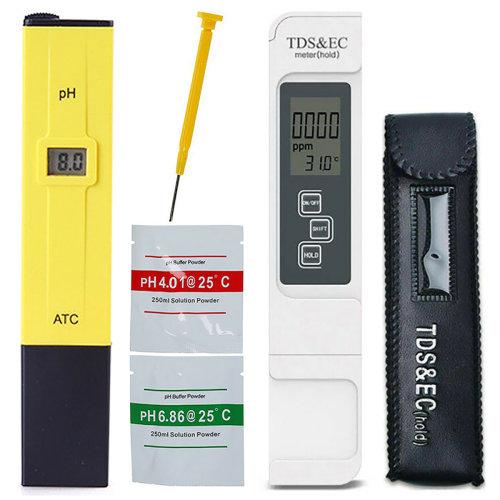 Digital LCD TDS&EC Meter pH Tester Set Aquarium Hydroponic Water Monitor Soil Test