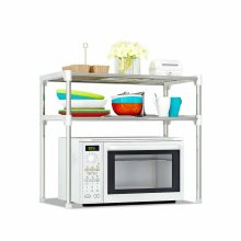 2 Tier Kitchen Storage Shelf Rack Microwave Oven Stand Pantry Organise