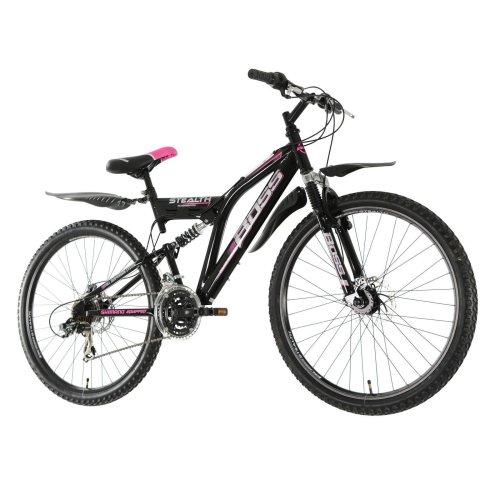 "26"" Stealth DISC Suspension BIKE - MTB Mountain Bicycle BOSS (Ladies) BLACK/PINK"