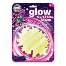 Brainstorm Glow Glitter Stars