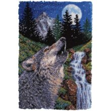 Wolf Landscape Rug Latch Hooking Kit (102x69cm)