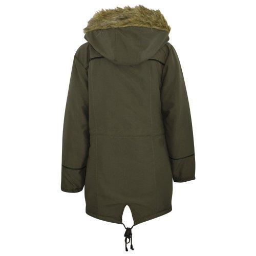 Girls Jacket Kids Black Cropped Padded Puffer Bubble Hooded Warm Coats 3-13 Year