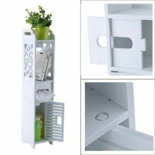 Wooden Bathroom Shelf Cabinet Cupboard Bedroom Storage Standing
