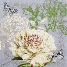 4 x Paper Napkins - Peony - Ideal for Decoupage / Napkin Art