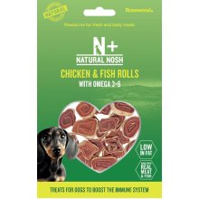 Rosewood Natural Nosh Chicken & Fish Rolls With Omega 3+6 80g (Pack of 12)