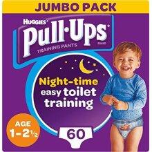 Huggies Pull-Ups Boy's Night Time Potty Training Pants, 1-2.5 Years (60 Pants)