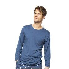 Cyberjammies Arthur 6530 Men's Blue Knit Pyjama Top