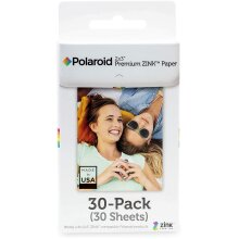 Premium Zink Photo Paper 2x3ʺ 30 Pack Compatible with Polaroid Snap