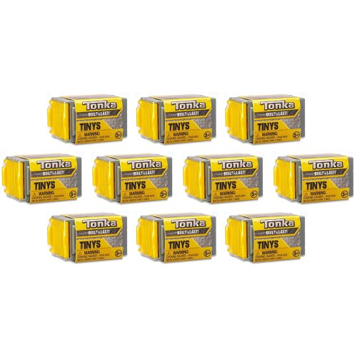 Tonka Tinys Rolling Tiny Real Tough Vehicles with Stackable Garage Blind Box 10 Pack