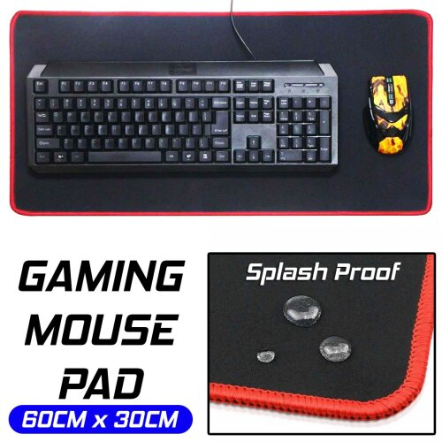 Gaming Mouse Pad Mat 60cm x 30cm Extra Large Xl For Pc Laptop Macbook
