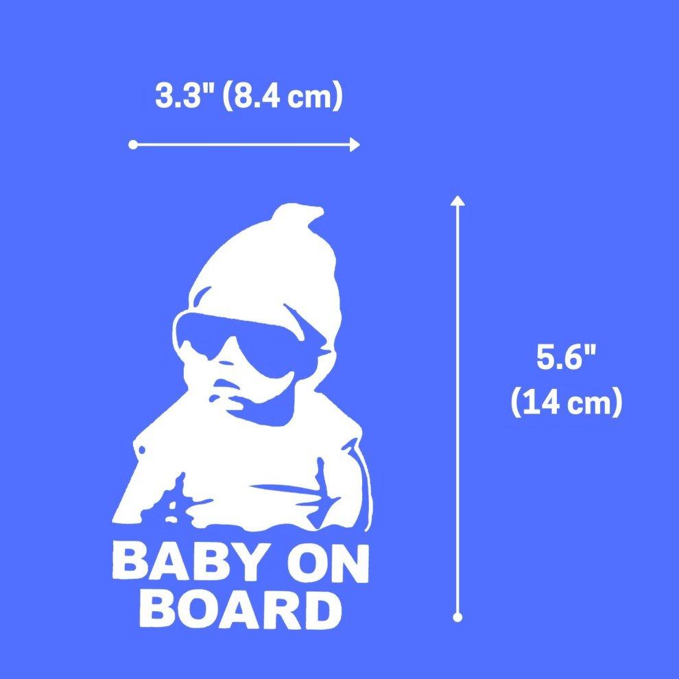 Baby on Board Footprint Window Decal Bumper Stickers 3-in-1 Baby In Car