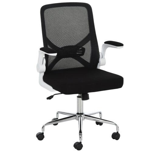 HOMCOM Swivel Mesh Office High Back Task Chair Home w/ Lumbar Support, Black