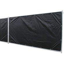 Noor Privacy Shield Tarpaulin, 1.76 x 3.41 m, Color: black, PP/PE