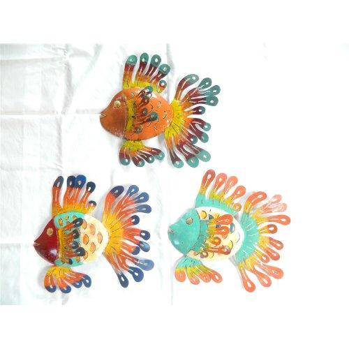 Wall Art Metal Tropical Fish Garden Ornament