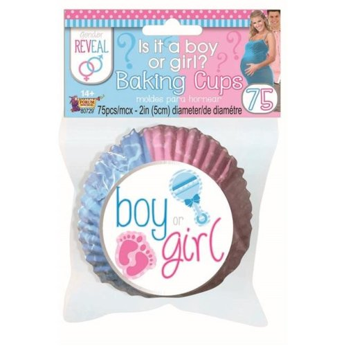 Official Forum X80729 Gender Reveal Baking Cups Party Goods Partyware