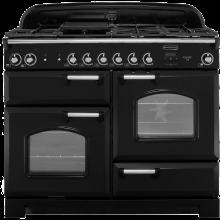 Rangemaster Classic CLA110DFFBL/C 110cm Dual Fuel Range Cooker - Black / Chrome