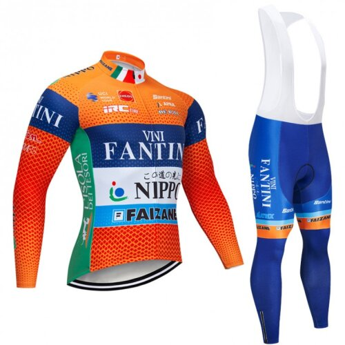 Men's Long Sleeve Cycling Jersey And Bib Pants Set