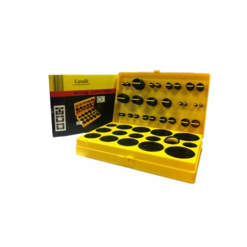 Package box with spare parts for seals, in different sizes