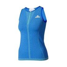 Adidas Women's Stella McCartney Barricade Tank Blue Tennis Top Sports Athletic
