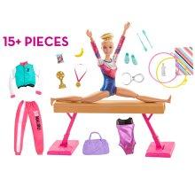 Barbie Gymnastics Playset│Doll & Accessories│Creative Gymnast Play Set