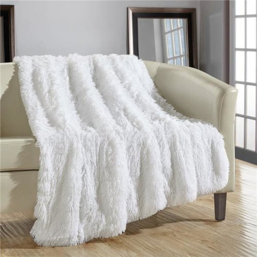 Super Soft Shaggy Throw Blanket Pillow