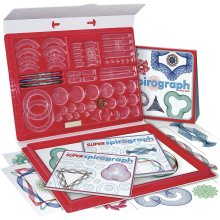 Spirograph Super Geometric Kit Includes 75 accessories, pens and design paper. Ages 8 and up. Ref. 41237 Toy Factory 41237.0