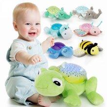 Baby Sleep Plush Toys, Stuffed Animal, LED Night Lamp With Music Star, Projector Light Toys