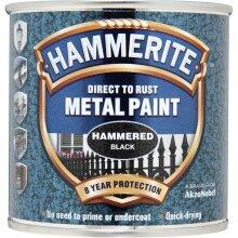 Metal Paint Hammered 250ml, Black, Black, By Hammerite