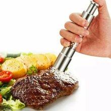 Peper Spice Mills Tools Stainless Steel Salt Push Sauce Grinder Kitchen Accessories