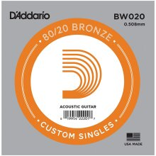 D'Addario BW020 Bronze Wound Single String Acoustic Guitar .020