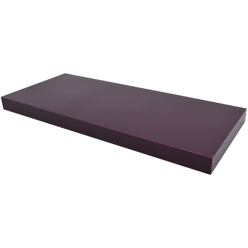 Floating Shelf 60cm Shelves High Gloss Aubergine Purple