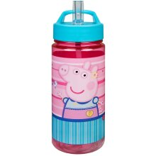 Scooli Peppa Pig Aero Plastic Bottle With Integrated Straw &Drinking Nozzle 500ML