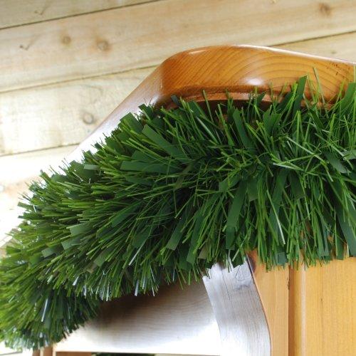 300cm x 15cm 6 ply chunky green pine garland