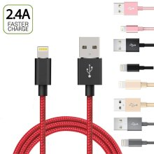 Heavy Duty Braided Lightning USB Charger Cable For iPhone