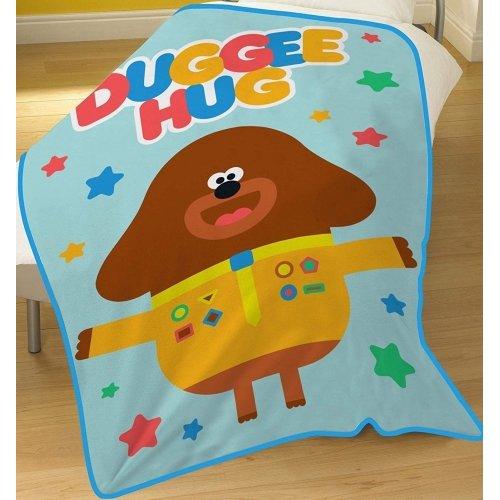Official Hey Duggee Hug Character Fleece Snuggle Blanket Throw