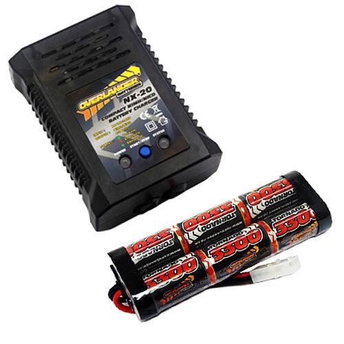 Overlander 3300mah 7.2v NiMH Battery & NX-20 2A Fast Charger - RC Car Tamiya etc