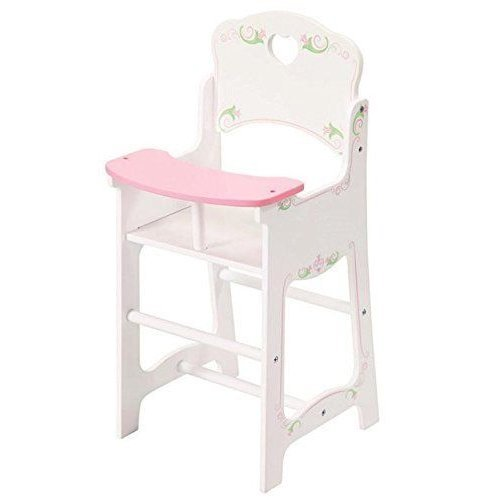The Magic Toy Shop Dolls White Wooden High Chair