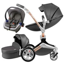 Baby Stroller 3 In 1 Travel System With Bassinet And Car Seat, 360 Rotation
