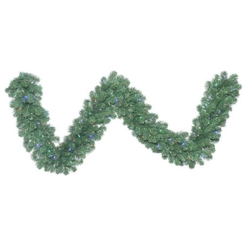 Vickerman C164718LED Oregon Fir Wide Angle Garland with Multi-Colored LED Lights, 9 ft. x 18 in.
